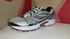 Saucony Men's Grid Cohesion 5 Grey Black Orange Running Shoes Size 7.5 M