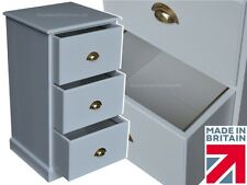 White Painted Filing Cabinet, Home Office 3 Drawer Folio Foolscap Filing Unit