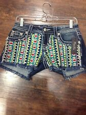 Women's Miss Me Aztec shorts