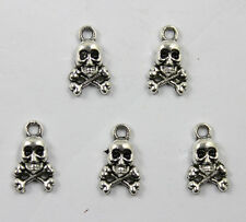 Free ship 40/100/300pcs retro style lovely skull alloy charms pendants 13 x 8mm