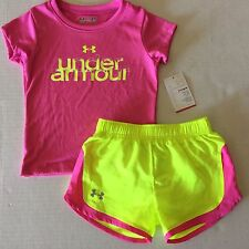 Girl's Under Armour Shirt and Shorts Outfit Toddler Heat Gear