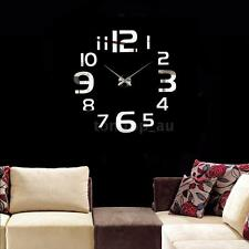 New Mirror Wall Clock Simple Digits Acrylic Removable Set Home Decor