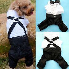 Pet Dog Cat Clothing Prince Tuxedo Cute Bow Tie Suit Puppy Costume Coat Jumpsuit