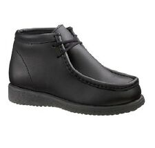 Hush Puppies Bridgeport Black Leather School Shoes for Big Kids/Boy's Size 3.5-7