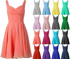 Cheap Short Bridesmaid Dresses Prom Evening Cocktail Gown Size4-6-8-10-12-14-16
