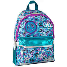 "Skechers Twinkle Toes BLUE PEACE SIGN 16"" School  Backpack Flash LED Lights"