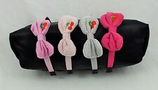 New Rockabilly Polka Dot and Cherrie's Medium Plush Side Bow 4 Colors to Pick