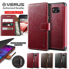Galaxy Note 5 case Genuine VERUS Dandy Layered Leather Flip Cover for Samsung