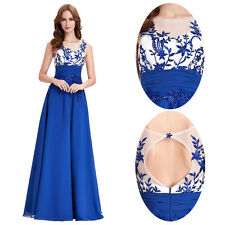 Applique Chiffon Formal Long Bridesmaid Dresses Evening Prom Gown Cocktail Party