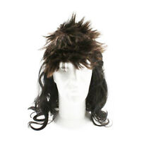 mullet wig long select from blond or brown fancy dress reduced to clear