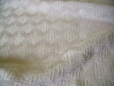 STRETCH JACQUARD-LARGE SYMETRIC SQUARES-LIGHT BEIGE -DRESS FABRIC-FREE P&P