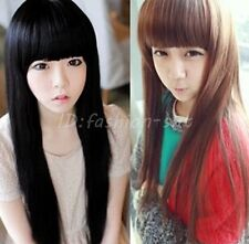 New Synthetic Wigs Lady Fashion Long Straight Women's Full Wigs Cosplay Party