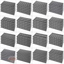 (5) Gray Compartment Flocked Display Inserts For Jewelry Cases and Trays