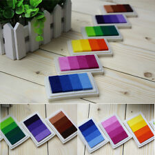 DIY Oil Based Ink Pads Craft Rubber Stamps Paper Fabric Colors Gradient