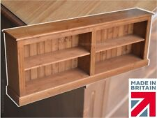 """Low Solid Pine Bookcase, 2ft 4""""x 6ft Display Shelving Unit, Bookshelves, Cabinet"""