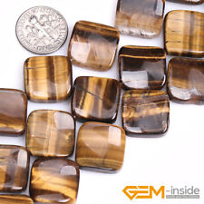 """16mm Natural Assorted Stone Square Diagonal Beads For Jewelry Making Strand 15"""""""
