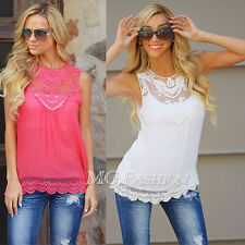 Women Summer Loose Casual Chiffon Sleeveless Vest Shirt Tops Blouse Ladies Top