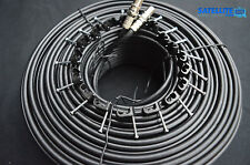 50m Twin Shotgun Coax Satellite Coaxial Cable Lead 4 Sky+ Plus HD TV Freesat New