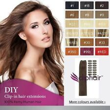 Premium DIY Clip in Remy Human Hair Extensions