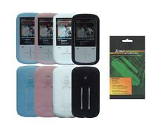 Soft Skin Cover Case and Screen Protector for Sandisk Sansa Fuze+ (SDMX20R)