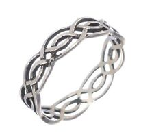 Mens Or Womens Infinity Celtic Ring in 925 Solid Sterling Silver