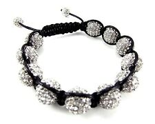 12MM ICED OUT DISCO BALL HIP HOP MACRAME BEADED BRACELET