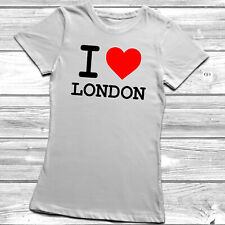 I Heart Love London Ladies Womens Lady Fitted T-Shirt