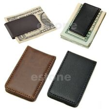 Hot Sale New Leather Slim Pocket Money Magnetic Clip Holder