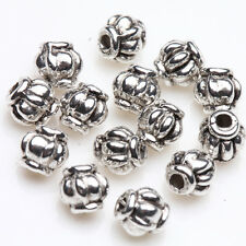 Hot Stylish 50/100Pcs Striped Tibetan Silver Spacer Bead DIY Gift Finding 4mm