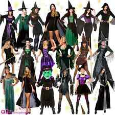 Ladies Halloween Gothic Sexy Scary Sorceress Enchant Witch Fancy Dress Costume