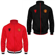 Manchester United FC Official Football Gift Mens Retro Track Jacket