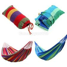 Cotton Rope Outdoor Swing Fabric Camping Hanging Hammock Canvas Rest Single Bed