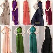 Women Summer Boho Long Maxi Evening Party Dress Beach Dresses Chiffon Dress
