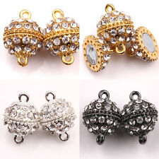 Fashion 5/10Sets Round Crystal Rhinestone Strong Magnetic Clasps Jewelry 19x13mm