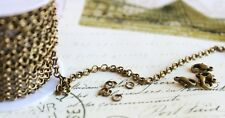 Jewelry Making rolo chains Lot antique bronze round rolo link 2mm/3mm 16-100FT