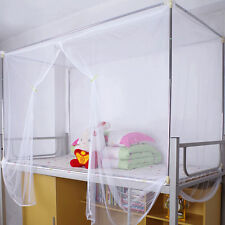 HOT White Four Corner Post Canopy Bed Mosquito Net Twin Queen King Size Netting