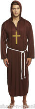 Mens Religious Monk Friar Tuck Medieval Fancy Dress Costume Outfit STD & XL