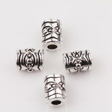 15/30Pcs Tibet Silver Carve Flower Space Bead Jewelry Charms Making  DIY 7x5mm