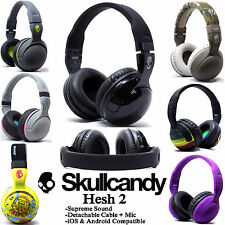 New Skullcandy Hesh 2 Stereo Headset Supreme Sound Mic+ Black White Grey Purple