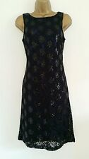 NEW BHS Evening Purple Black Lace Sequin Embellished Dress Party 8-18