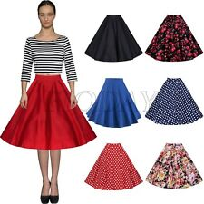 Summer Midi Skirt Vintage Rockabilly 50's Casual Party Pinup Short Swing Dress