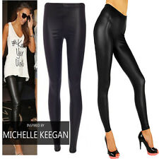 NEW Sexy MAT Wet Look Black Full Ankle Length Leggings All Sizes High Quality