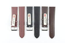 My Swiss Imitation Leather Strap Smooth Pattern Watch Band Width 22 mm.