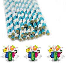 P#DRINKING STRAW RAINBOW FOR PARTY TABLE DECORATIONS with Navy blue stripe