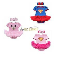 Baby Girls Cute Fancy Princess Party Tutu Romper Dress Headband Outfit Birthday