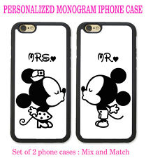 His & Hers PHONE CASES Couple Kissing 2 iPhone Cases - CUSTOM PERSONALIZED