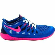 New Nike Youth Free Run 5 GS Shoes (644446-400)  Royal Blue/Pink