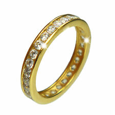 Gold Ring Eternity Ring Solid Yellow Gold 9ct or 14ct Size H up to S Hallmarked