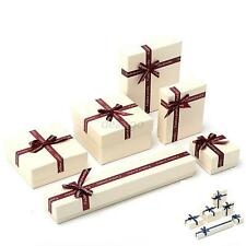 Hot 6 Sizes Gift Boxes Case For Bangle Jewelry Watch Box Necklace Ring Earring