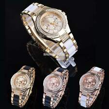 New Luxury Bling Crystal Quartz Alloy Band Lady Women Wrist Watch Bracelet Watch